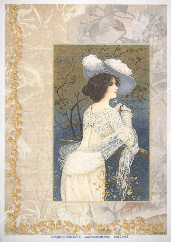 Rice Paper -  Woman in Hat
