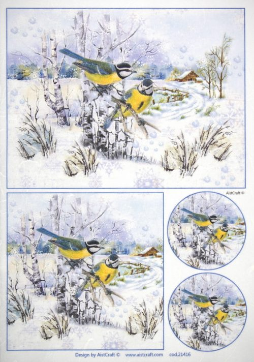 Rice Paper - Birds in the Snow