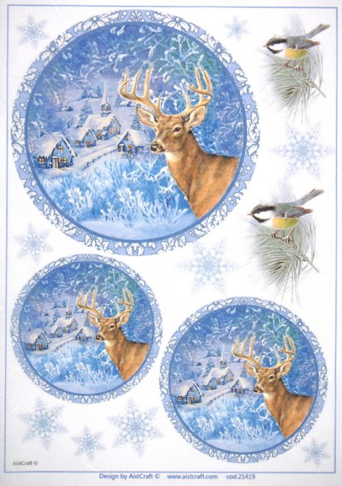Rice Paper - Deer at Night