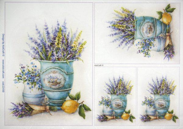Rice Paper - Flower Still Life with Lemon
