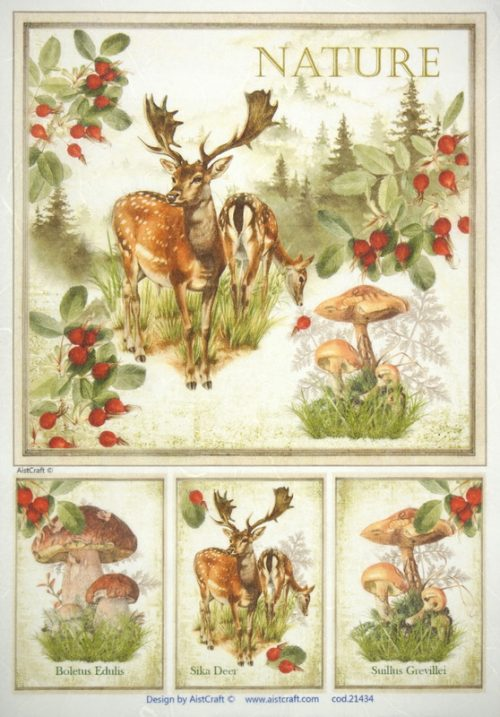 Rice Paper - Autumn Deer