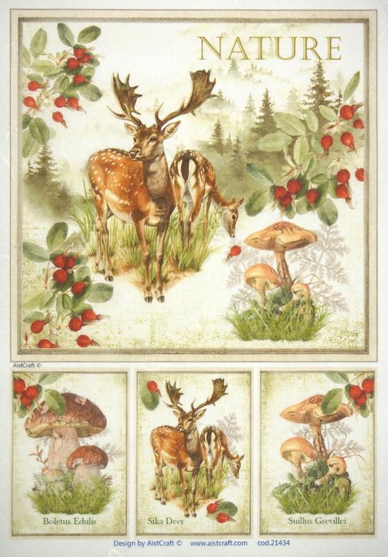 Rice Paper - Autumn Deer
