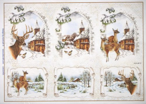 Rice Paper - Winter Landscape with Deer