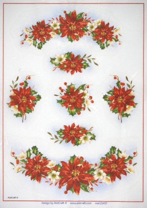 Rice Paper - Poinsettia