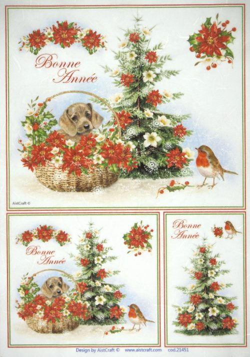 Rice Paper - Christmas Dog