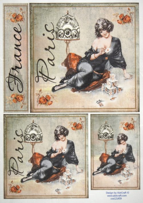 Rice Paper -  Paris Fashion cards
