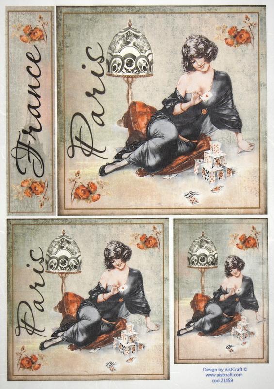 Rice Paper -  Paris Fashion cards
