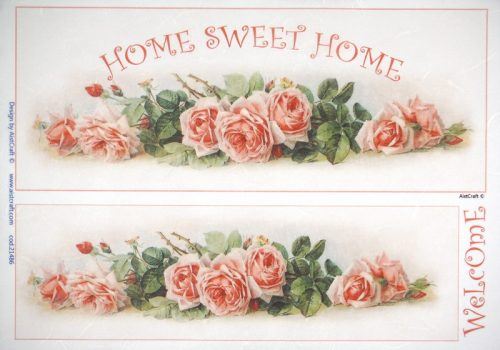 Rice Paper -  Welcome Home Roses
