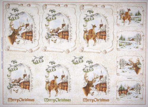 Rice Paper -  Marry Christmas Deer