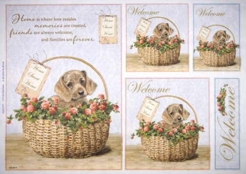 Rice Paper - Welcome Dog