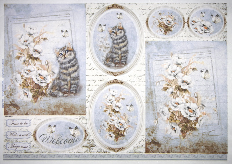 Rice Paper - Welcome Cat
