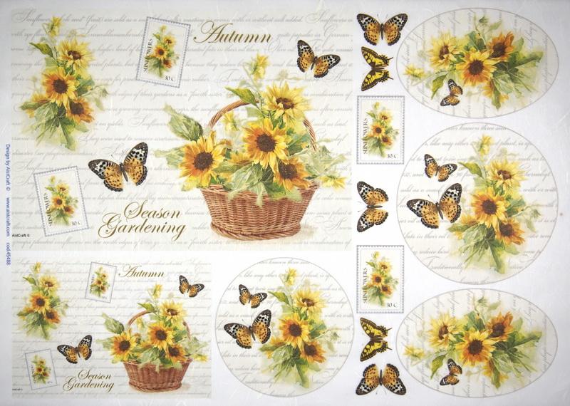 Rice Paper - Sunflowers
