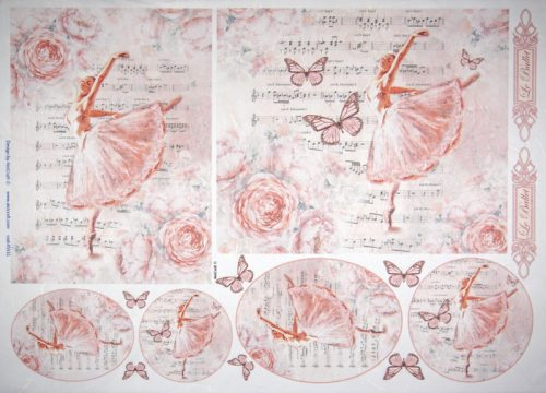 Rice Paper - Ballet Dancer Pink