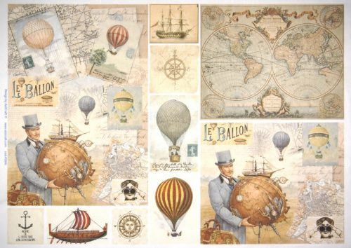 Rice Paper - Travel by Balloon