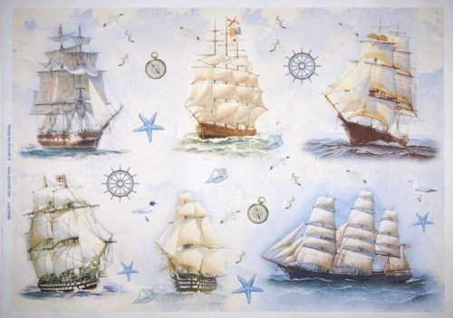 Rice Paper - Sailboats