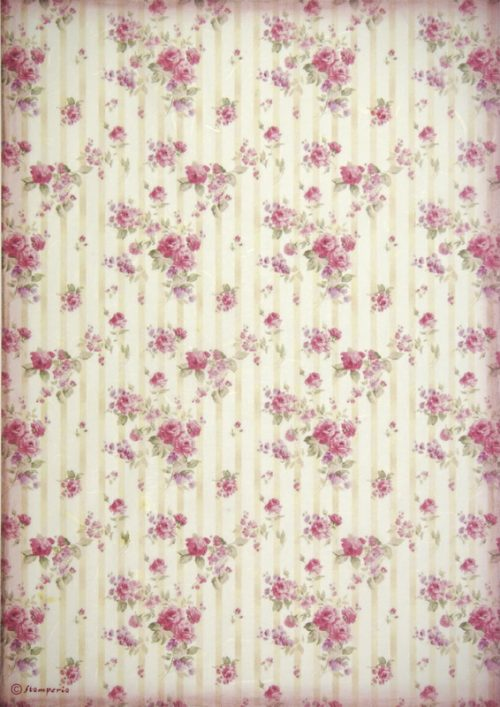 Rice Paper - Roses wallpaper