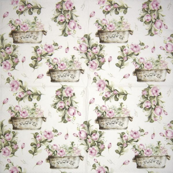 Lunch Napkins (20) - Peony flower boxes