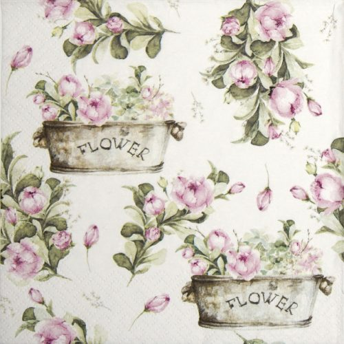 Paper Napkin - Peony flower boxes