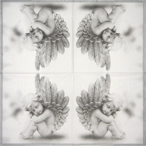 Paper Napkin - Dreaming Angel grey