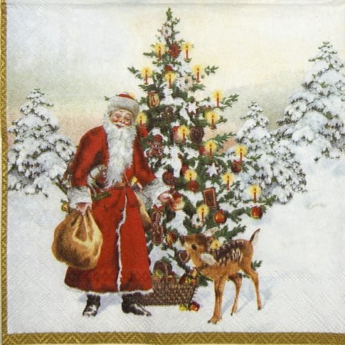 Cocktail Napkins (20) - Annual Christmas Santa