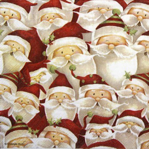 Paper Napkin - Funny Santa