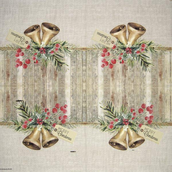 Lunch Napkins (20) - Christmas Bells