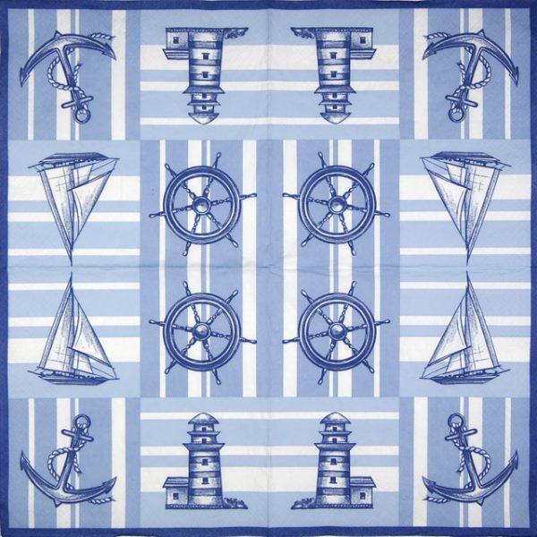 Paper Napkin - Nautical Pattern