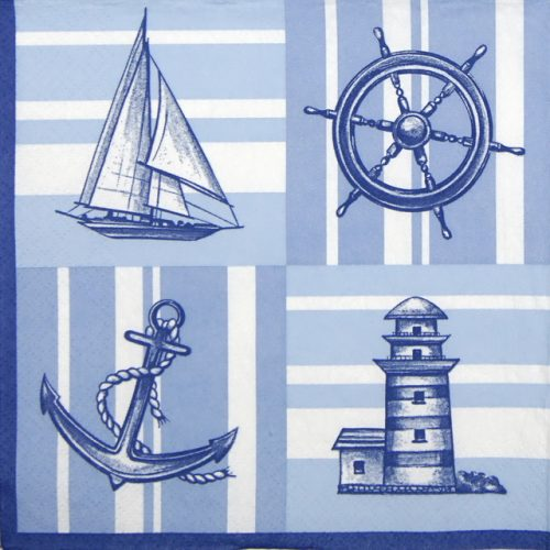 Paper Napkin - Nautical Pattern