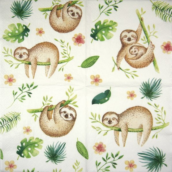 Lunch Napkins (20) - Positive Sloth