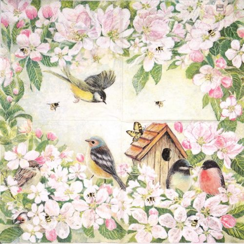 Paper Napkin - Birds and blossom