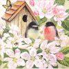 Paper Napkin - Birds and blossom