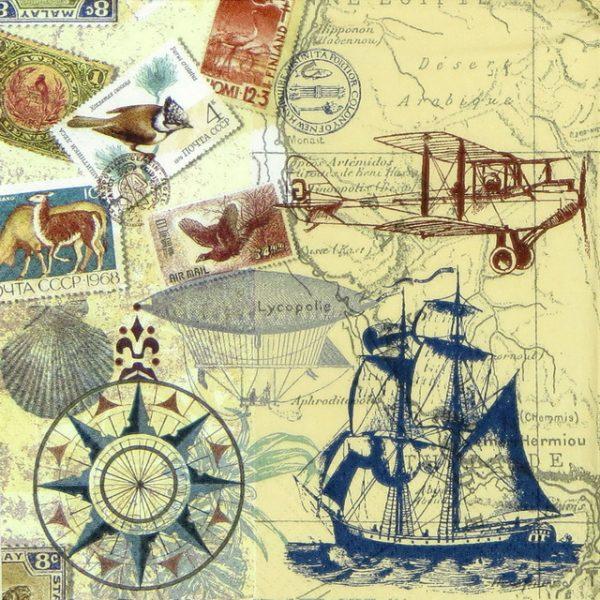 Paper Napkin - Around the World