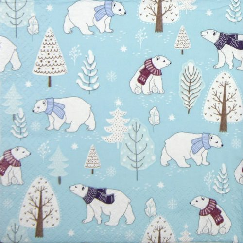 Paper Napkin - Cute Polar Bear