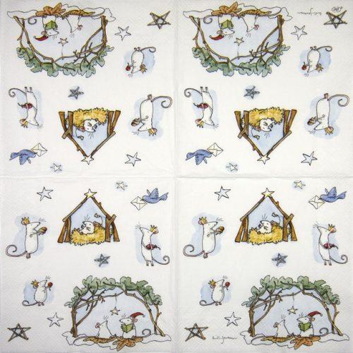 Lunch Napkins (20) - Anita Jeram:  Mouse Crib