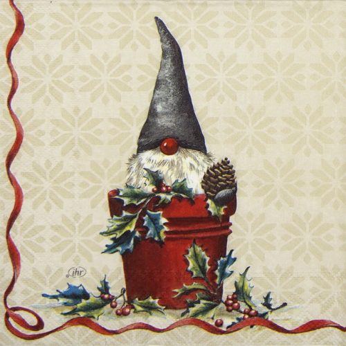 Cocktail Napkins (20) - Tomte in Bucket