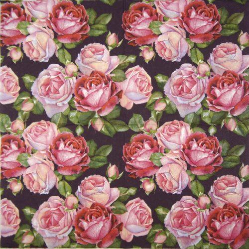 Paper Napkin - Rosa Black