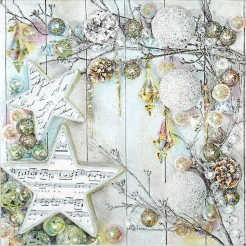 Lunch Napkins (20) - Silver Christmas