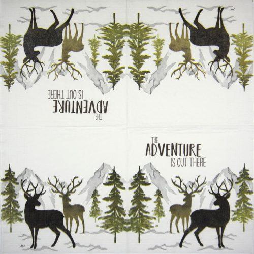 Paper Napkin - Ute Krause: Adventure Deer