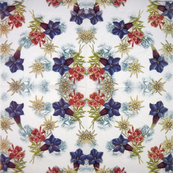 Lunch Napkins (20) - Breitbach Design: Alpine Flowers
