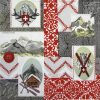 Lunch Napkins (20) - Breitbach: Alpine Patchwork