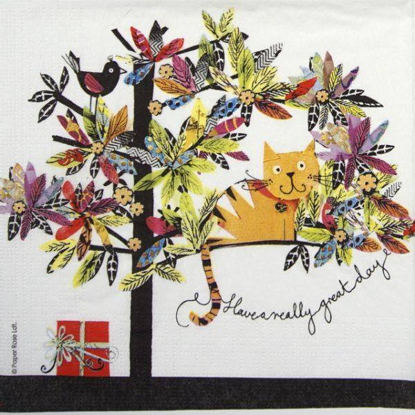 Paper Napkin - Paper Rose: Artisan Cat
