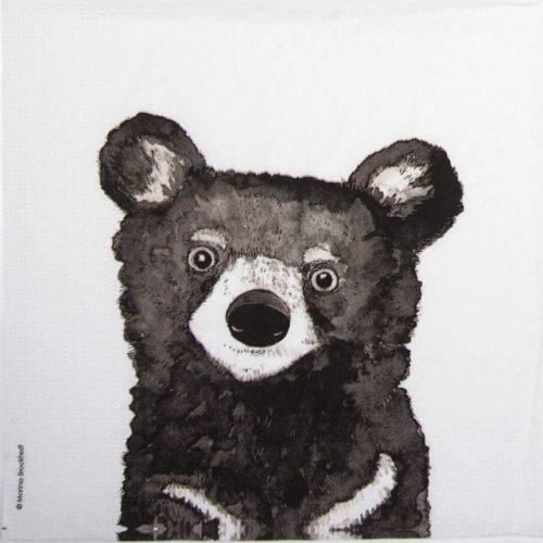 Paper Napkin -  Marina Brackhoff: Bear
