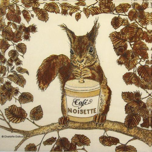 Paper Napkin - Charlotte Galloux: Café Noisette