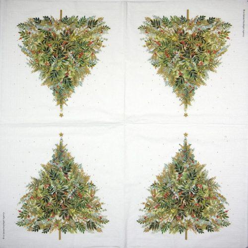 Paper Napkin - Jo Spicer: Christmas Hill Tree