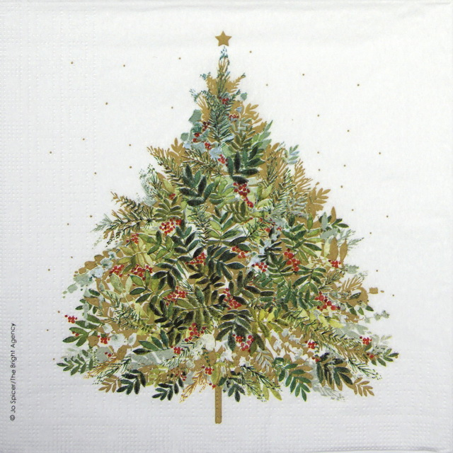 Lunch Napkins (20) - Jo Spicer: Christmas Hill Tree