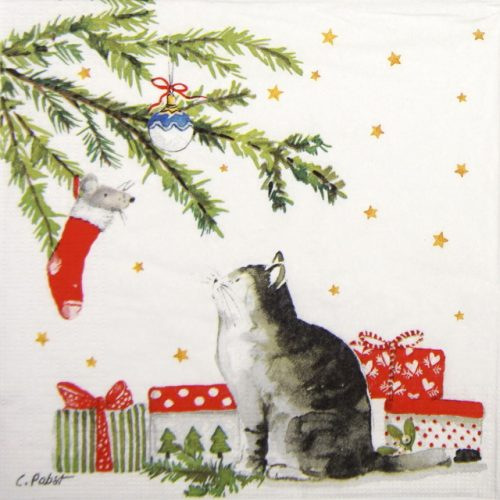 Lunch Napkins (20) - Carola Pabst: Christmas Cat