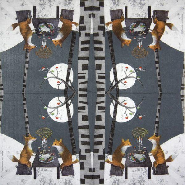 Lunch Napkins (20) - Iris Deppe: Midnight Feast
