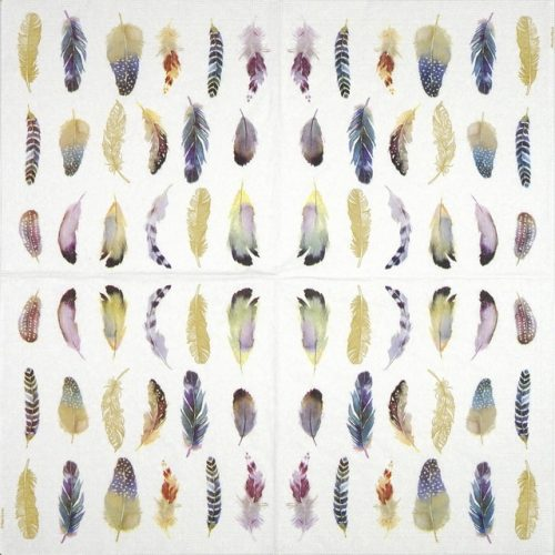 Paper Napkin - Nigel Quiney: Feathers Fantasy