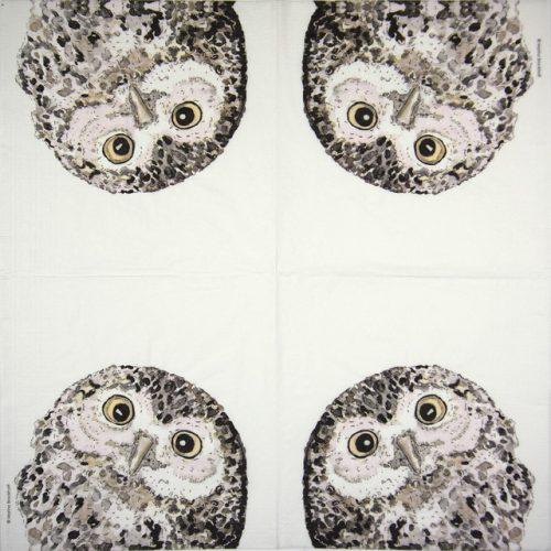 Lunch Napkins (20)- Marina Brackhoff: Owl