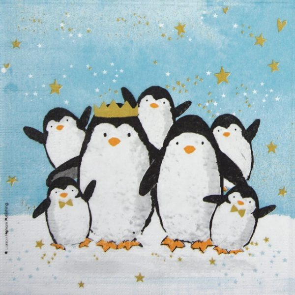 Lunch Napkins (20) - Carson Higham: Penguin Family